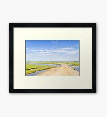 Farm in the Lagoa do Peixe lake Framed Print