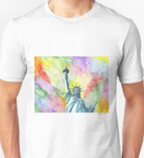 Statue of Liberty - Multi watercolors T-Shirt