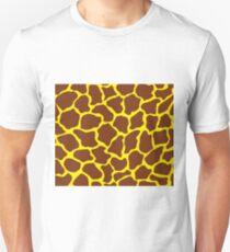 Aureolin in Giraffe Pattern  Unisex T-Shirt