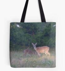 Mama Deer & her Baby Tote Bag