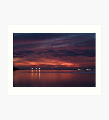 Corio Bay, Portarlington,Bellarine Peninsula Art Print