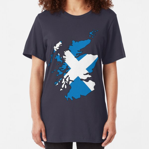 Scotland Flag and Country Slim Fit T-Shirt