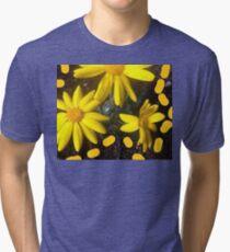 Yellow flowers  Tri-blend T-Shirt