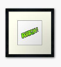 cartoon comic book scream Framed Print