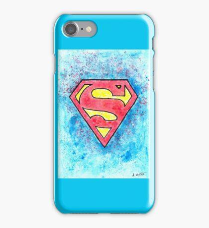 DC watercolour Superman Logo iPhone Case/Skin