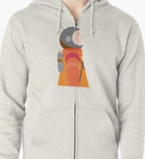 Astronauts in Space Zipped Hoodie