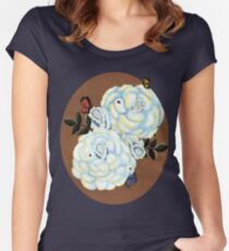 Illuminated Roses Women's Fitted Scoop T-Shirt