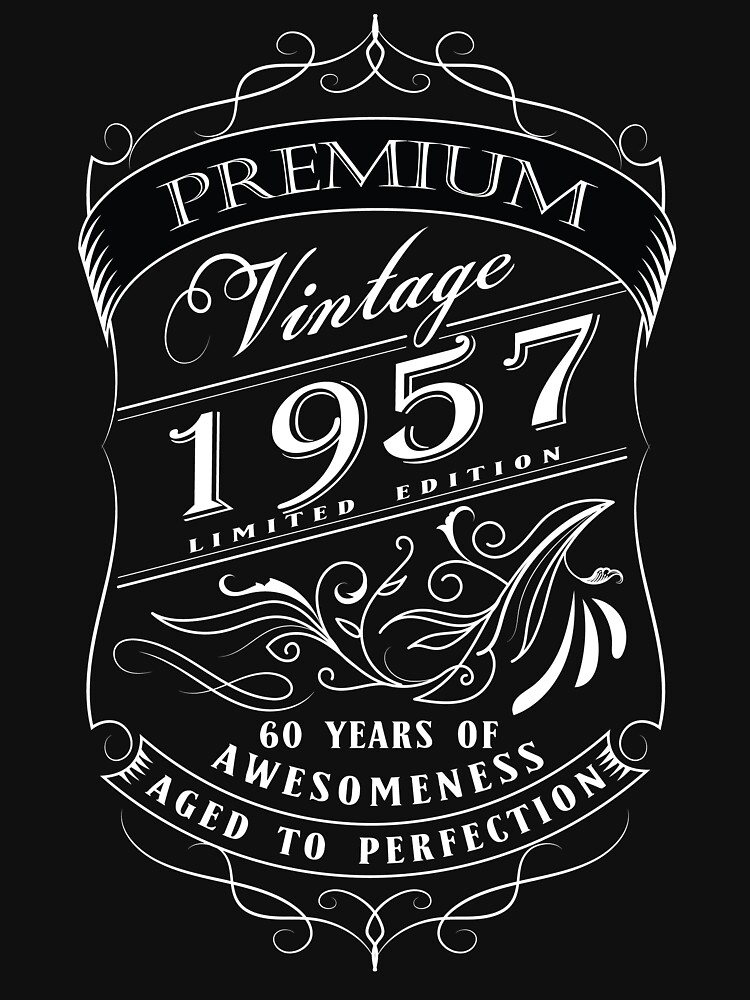 60th Birthday Gift T-Shirt Vintage Limited Born 1957 Edition | Unisex T-Shirt