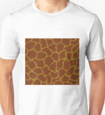 Bistre Brown, Drab, Mode Beige, Sand Dune or Sandy Taupe in Giraffe Pattern T-Shirt