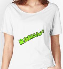 cartoon comic book roar  Women's Relaxed Fit T-Shirt