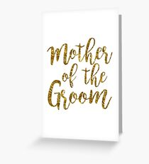 Mother of the Groom | Gold Foil | Weddings Greeting Card