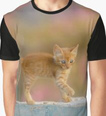Cute Funny Drolly Ginger Cat Kitten Graphic T-Shirt