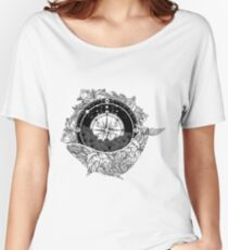Compass and Whale Women's Relaxed Fit T-Shirt