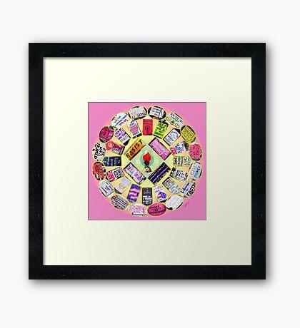 Resist Mandala Framed Print