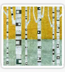 Early Winter Birches Sticker