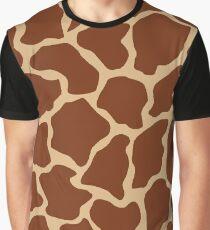 Burlywood in Giraffe Pattern Graphic T-Shirt