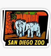 San Diego Zoo Vintage Travel Decal Sticker