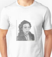 Zoe Washburn from Firefly/Serenity hand drawn in charcoal. Unisex T-Shirt