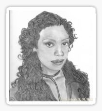 Zoe Washburn from Firefly/Serenity hand drawn in charcoal. Sticker