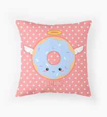 Holey donut Throw Pillow