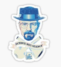 march for science, not silence t shirt Sticker