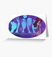 Megara Meg Hercules Muses  Greeting Card