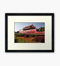 Tiananmen in Beijing China art photo print Framed Print