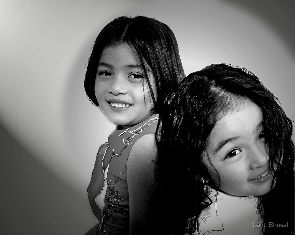Sisters by Lalit  Bhusal