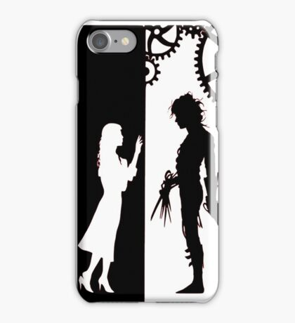 Edwards Scissorhands and Kim Boggs iPhone Case/Skin