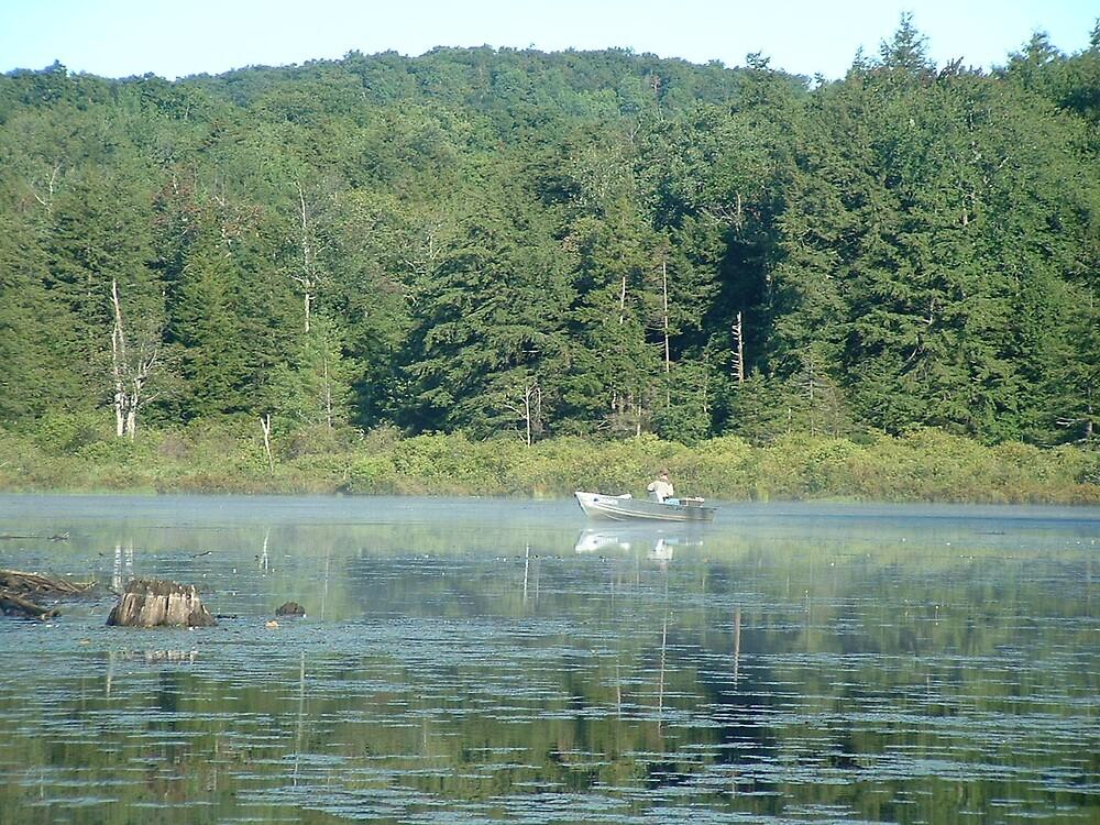 Fishing Bog Pond by Brian Burdick