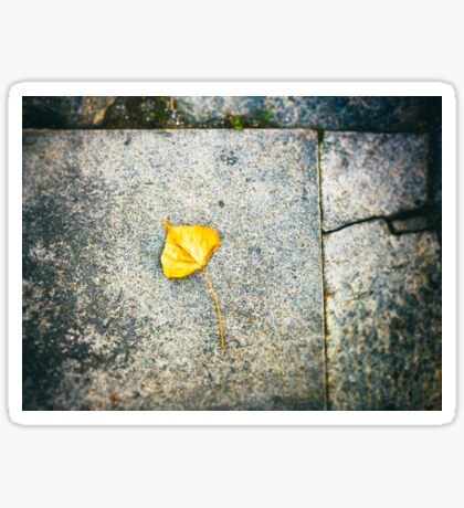 Yellow leaf Sticker