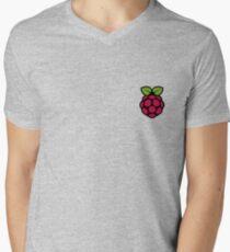 Extra Large Raspberry PI Sticker Mens V-Neck T-Shirt