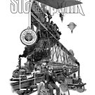 Steampunk vintage engraving collage by Denys Golemenkov