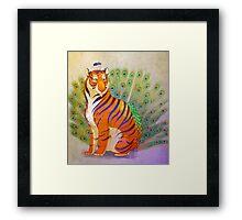 Peacock Tiger Framed Print