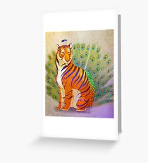 Peacock Tiger Greeting Card