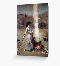 MAGIC CIRCLE - John William Waterhouse  Greeting Card