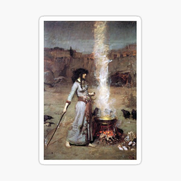 MAGIC CIRCLE - John William Waterhouse  Sticker