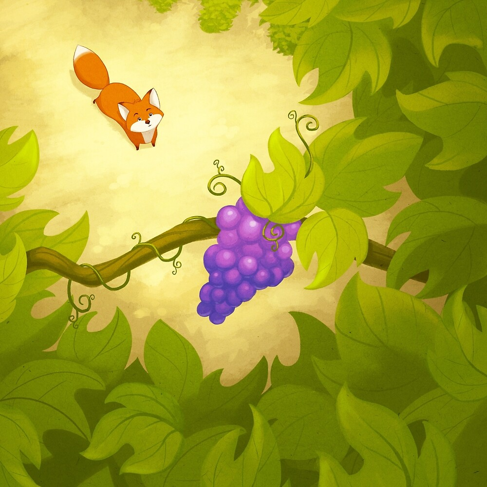 the fox and the grapes Once a hungry fox chances upon a grapevine with luscious fruit on it however, his attempts to jump and retrieve the grapes fail and he walks off criticizing the grapevine and the grapes download.