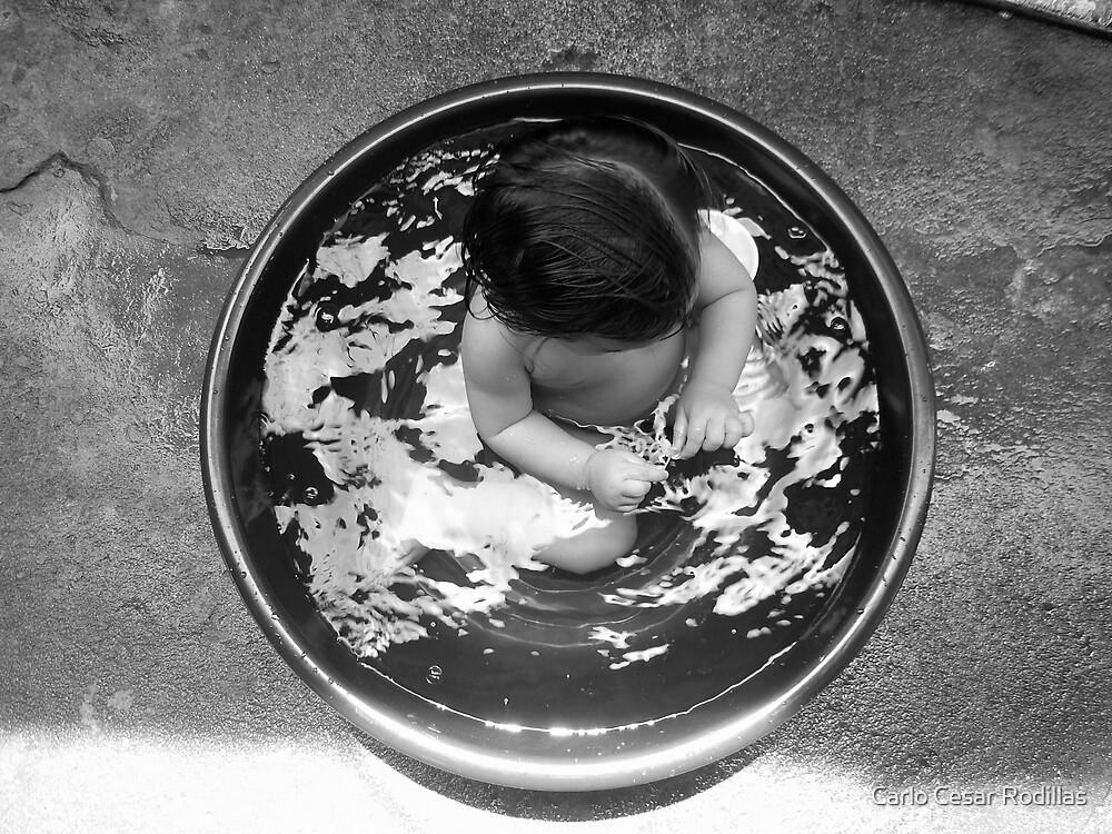 Baby Bathing by Carlo Cesar Rodillas