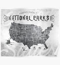 Nationalparks der Vereinigten Staaten Poster