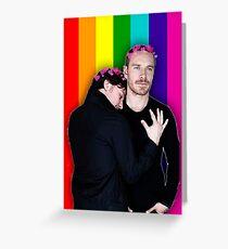 James McAvoy & Michael Fassbender / Charles Xavier & Erik Lehnsherr Greeting Card