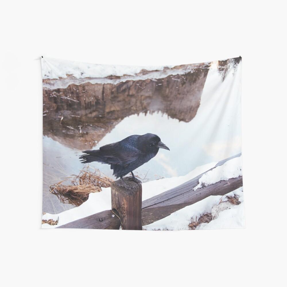 Yosemite Raven Wall Tapestry