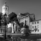 Cathedral of Valladolid - B&W by Tom Gomez