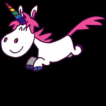 Galloping Cartoon Unicorn by Cheerful Madness!! by cheerfulmadness
