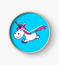 Galloping Cartoon Unicorn by Cheerful Madness!! Clock