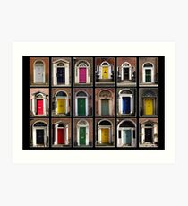 Georgian doors of Dublin Art Print