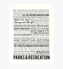 Parks und Freizeitangebote Kunstdruck