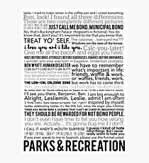 Parks and Recreation Quotes Photographic Print