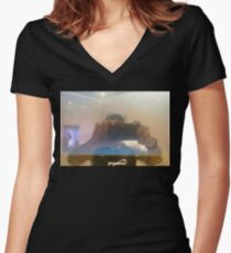 Supersonic Selfie  Women's Fitted V-Neck T-Shirt