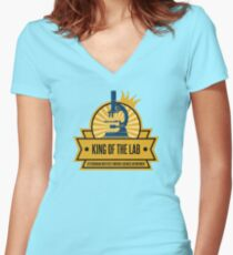 Jeffersonian's King of the Lab! Women's Fitted V-Neck T-Shirt